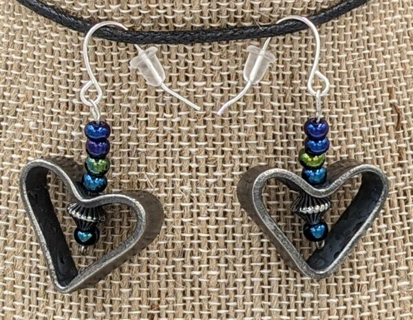 Disarm Hearts Earrings Blue
